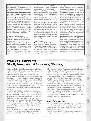 Stab und Schwert: Die Ritualgegenstände der Magier Stab und ...