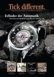 Tick Different - die Zeitschrift für die Freude an speziellen Uhren