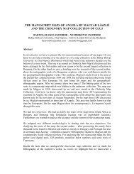 The manuscript maps of Angola by Magyar László - International ...