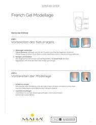 Step-by-step Brisa Gel - MAHA Cosmetics Onlineshop