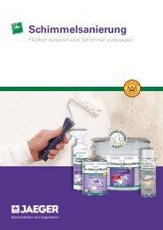 Prospekt Schimmelsanierung - Paul Jaeger GmbH & Co. KG
