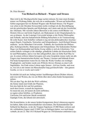 Wagner und Strauss - Richard Wagner Verband München e.V.