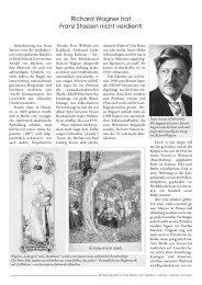 Richard Wagner hat Franz Stassen nicht verdient! - mvs verlag