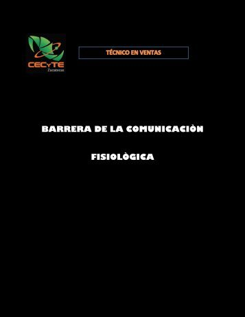 BARRERA DE LA COMUNICACIÒN