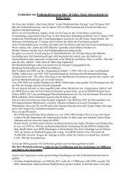 Gedanken zur Podiumsdiskussion von Jahn in Halle/Saale