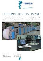 FRÜHLINGS HIGHLIGHTS 2008 - Unigraphica