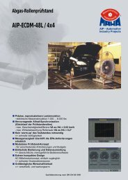Abgas-Rollenprüfstand AIP-ECDM-48L / 4x4 - MAHA-AIP