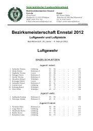 Bezirksmeisterschaft Ennstal 2012 - Schützenverein Bad Mitterndorf