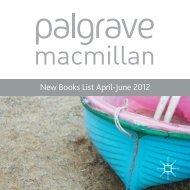 New Books List April-June 2012 - Palgrave