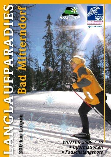 Langlaufparadies Bad Mitterndorf-Ausseerland - Ausseerland ...