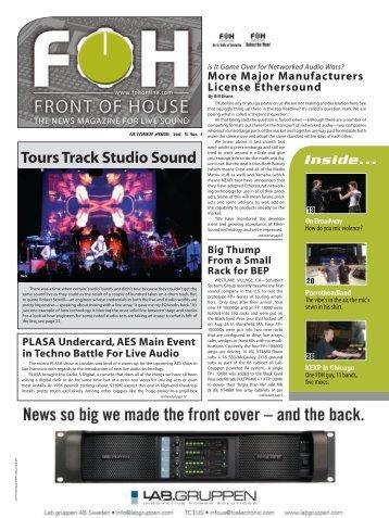Tours Track Studio Sound - FOH