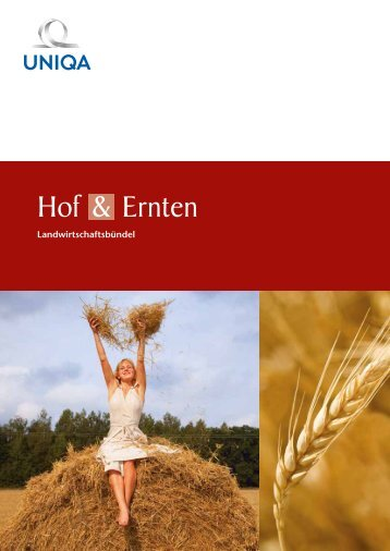 Folder Hof & Ernten Landwirtschaftsbündel - Uniqa
