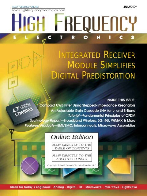 High Frequency Electronics — July 2009 Online Edition