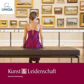 Folder Kunst & Leidenschaft Kunstversicherung - Uniqa