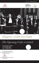 Wagner under the Sails - Sydney Symphony Orchestra