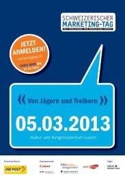 Von Jägern und Treibern - Swiss Marketing