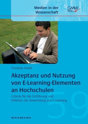 Akzeptanz und Nutzung von E-Learning-Elementen