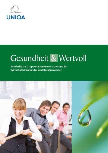 Folder Gesundheit & Wertvoll Gruppenkranken ... - Uniqa