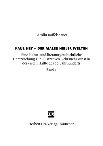 Paul Hey – der Maler heiler Welten - Herbert Utz Verlag GmbH