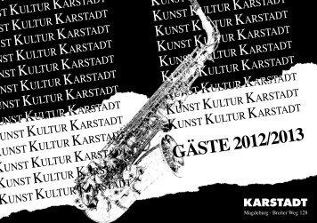 GÄSTE 2012/2013 - Karstadt
