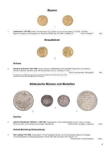 Altdeutsche Münzen Und Medaillen
