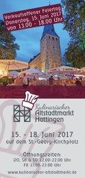 Kulinarischer Altstadtmarkt 2017