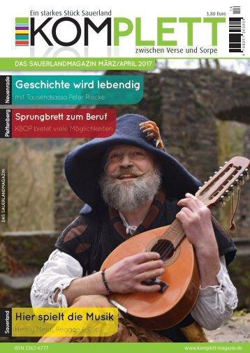 Komplett - DAS Sauerlandmagazin Ausgabe März/April 2017