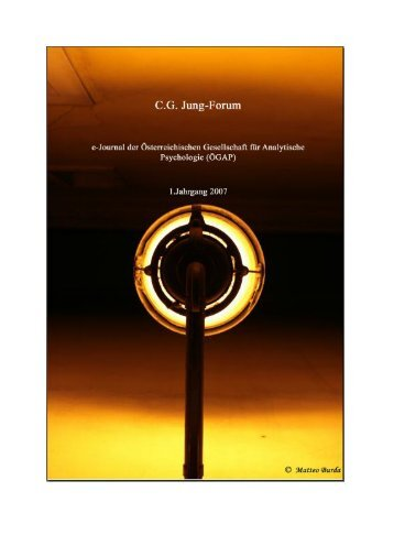 cg jung-forum - ÖGAP - Österr. Gesellschaft für Analytische ...