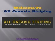 Pavement Marking in Ontario| All Ontario Striping