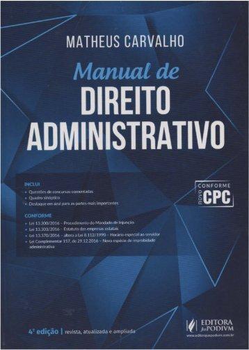 MANUAL DE DADM - MATHEUS CARVALHO (4ª EDIÇÃO-2017)