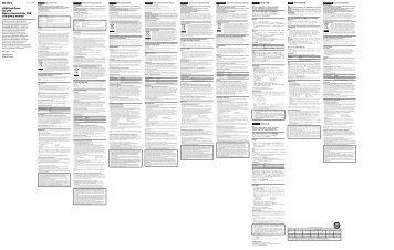 Sony USM4GP - USM4GP Mode d'emploi Slovaque