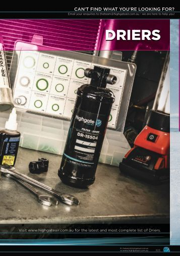 Highgate Product Catalogue Edition 12 - Driers