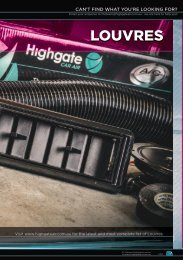 Highgate Product Catalogue Edition 12 - Louvres