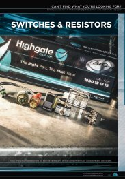 Highgate Product Catalogue Edition 12 - Switches & Resistors