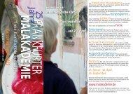 Kursprogramm (PDF) - Frankfurter Malakademie