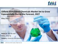 Oilfield Stimulation Chemicals Market Set to Grow Exponentially During the Forecast, 2027