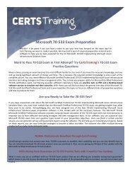 70-533 Dumps - Microsoft Certified Professional Exam