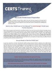 70-642 Dumps - Microsoft Certified Solutions Associate Exam
