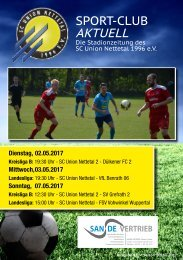 Sport Club Aktuell - Ausgabe 43 - 02.05.207 bis 07.05.2017