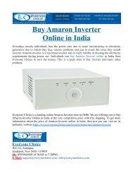 Buy Amaron Inverter Online in India
