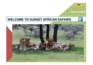 Welcome to Sunset African Safaris