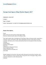 Europe Seal Spacer Ring Market Report 2017