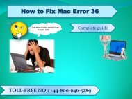 How to Fix Mac Error 36 |Apple Technical support Number