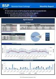 Trading report April 2017