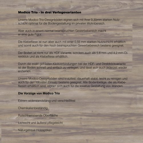 dwb Produktinformation VinylBoden Modico Bergwalnuss M311