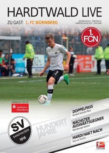 Hardtwald Live, Nr. 17, 16/17, SVS - 1. FC Nürnberg