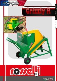 Scie circulaire PTO Grizzly 600 R / Grizzly 700 R - Rosselli Snc