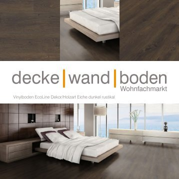 dwb Produktinformation VinylBoden Eco Eiche dunkel rustikal OV66396