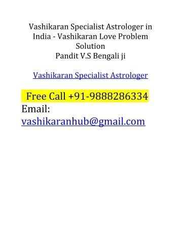 Vashikaran Specialist Astrologer VS Bengali