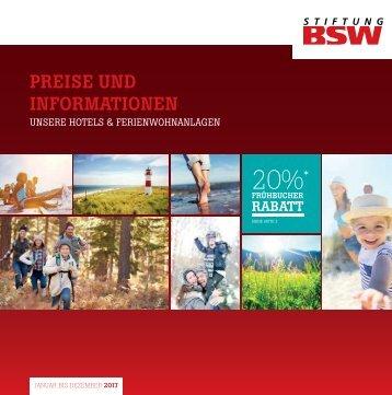Preisliste BSW Ferieneinrichtungen 2017